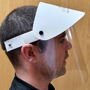 Protector facial de seguridad con refuerzo y visera